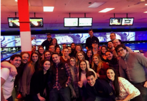 Law Review members at the annual bowling night