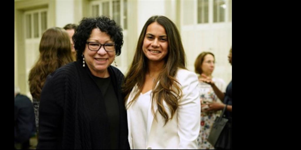 Law Review alumna Cristen Callan with Hon. Sonia Sotomayor